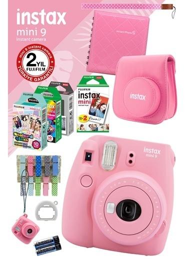 Fujifilm instax mini 9 Açik Pembe Fotograf Makinesi ve Mega Hediye Seti Renkli